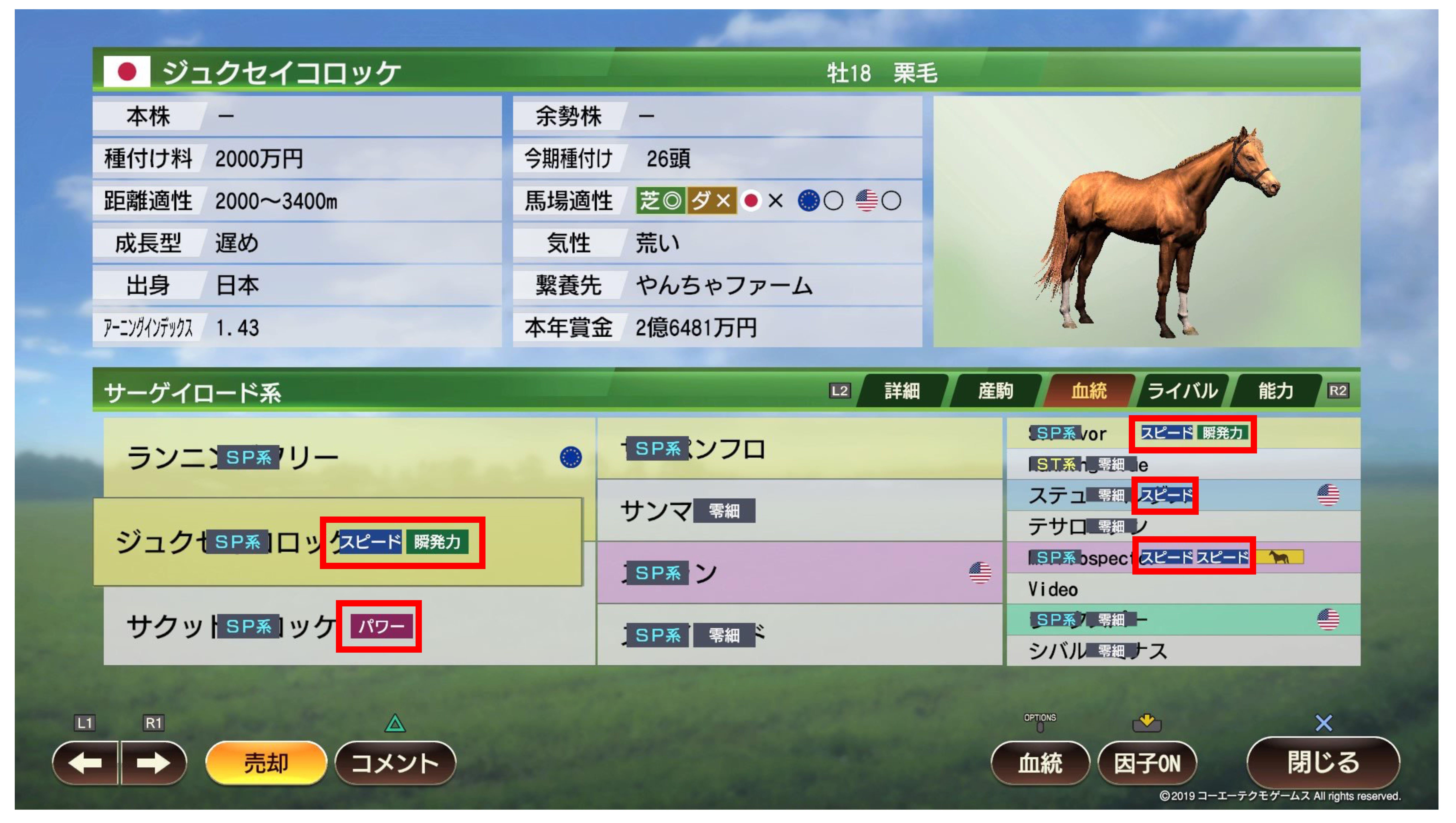 9 繁殖 牝馬 ウイニングポスト 牝系・繁殖牝馬
